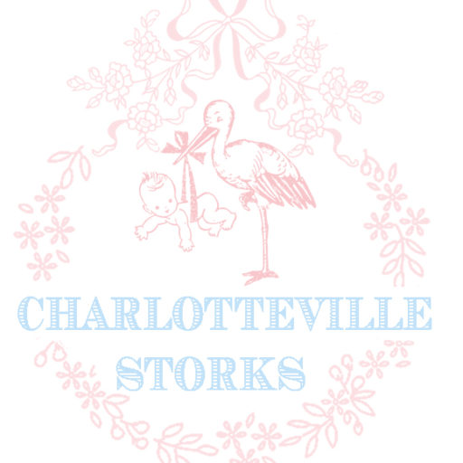 Charlottesville Storks, Birth Announcement Yard Sign in Central Virginia